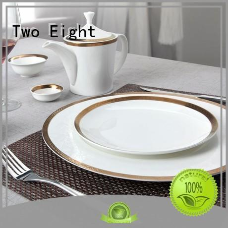 Two Eight royal fine porcelain dishes wholesale for bistro