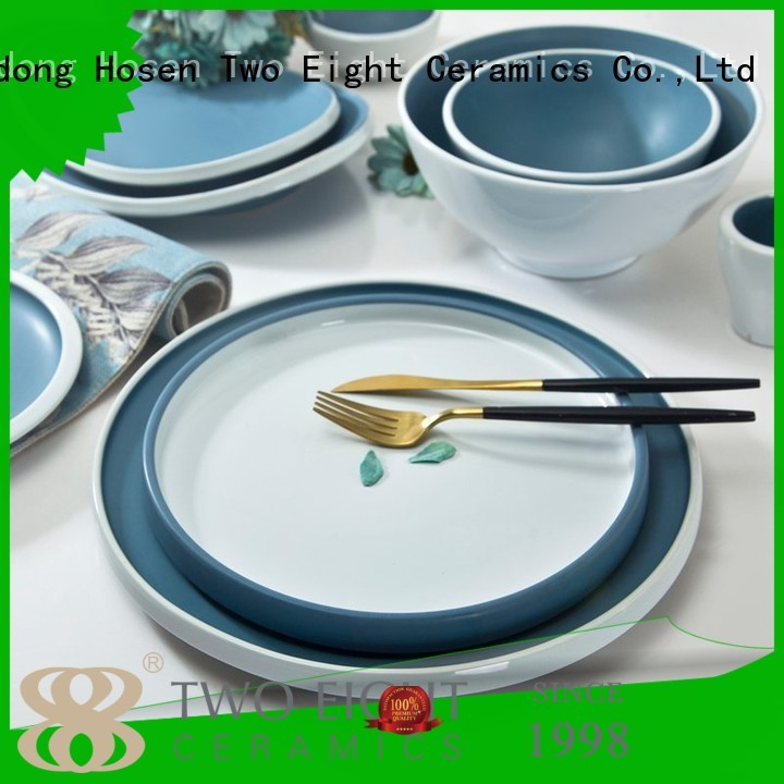 Two Eight modern porcelain dinnerware sets for 12 directly sale for dinning room