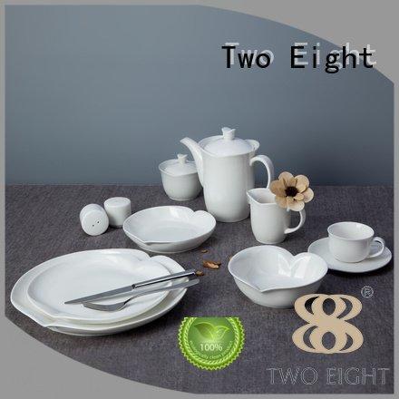 Hot white porcelain tableware surface white dinner sets modern Two Eight