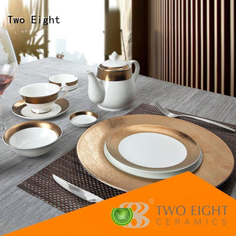 Hot fine china tea sets golden Two Eight Brand