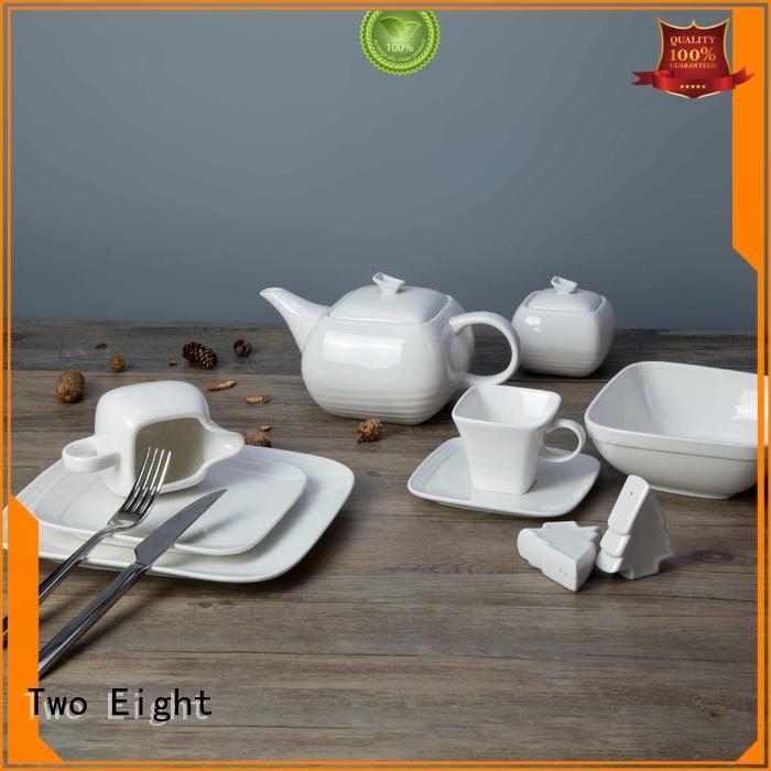 Two Eight white porcelain dinner plates bulk Suppliers for dinning room