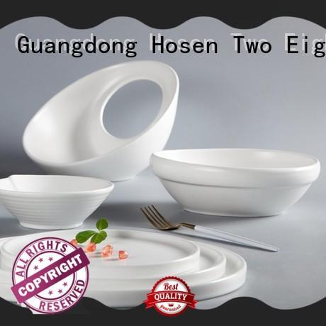 Two Eight irregular restaurant chinaware supplier manufacturer for dinner