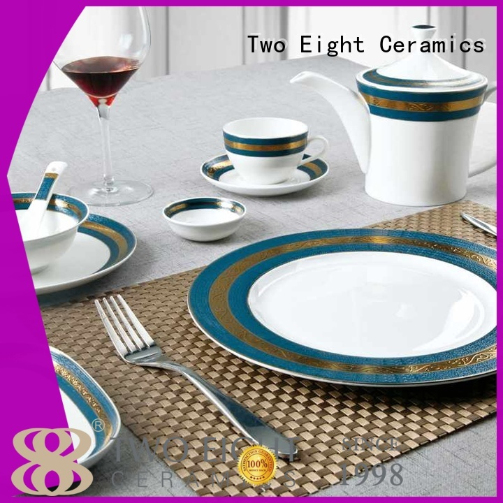 Two Eight fine bone china england factory for restaurant