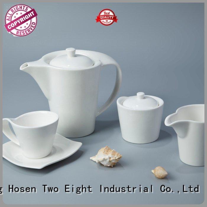 Two Eight white porcelain tableware irregular color german