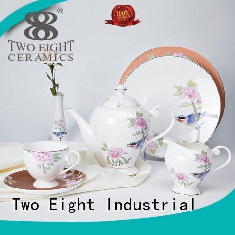 fine white porcelain dinnerware embossed fine china tea sets modern