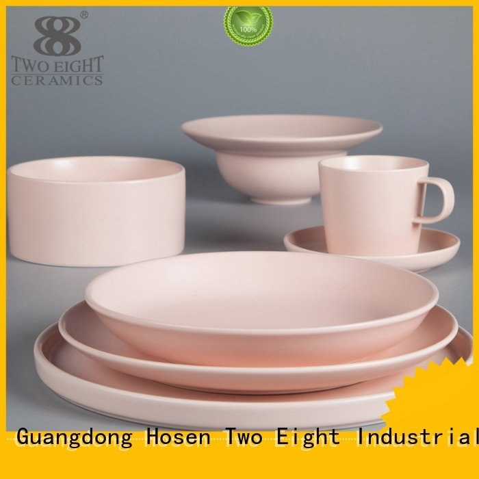 colored blue bistro blue and white porcelain Two Eight