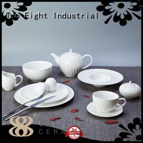 dinner white dinner sets Two Eight white porcelain tableware