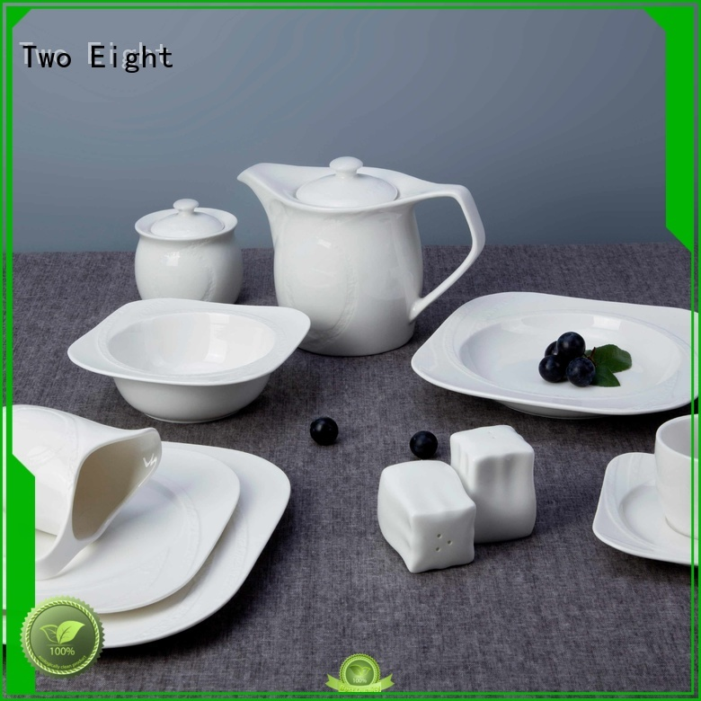 white plate casual two eight ceramics glaze Two Eight