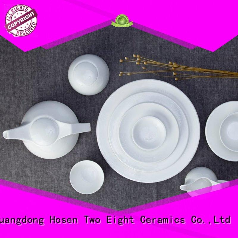 Two Eight casual restaurant quality plates from China for dinning room