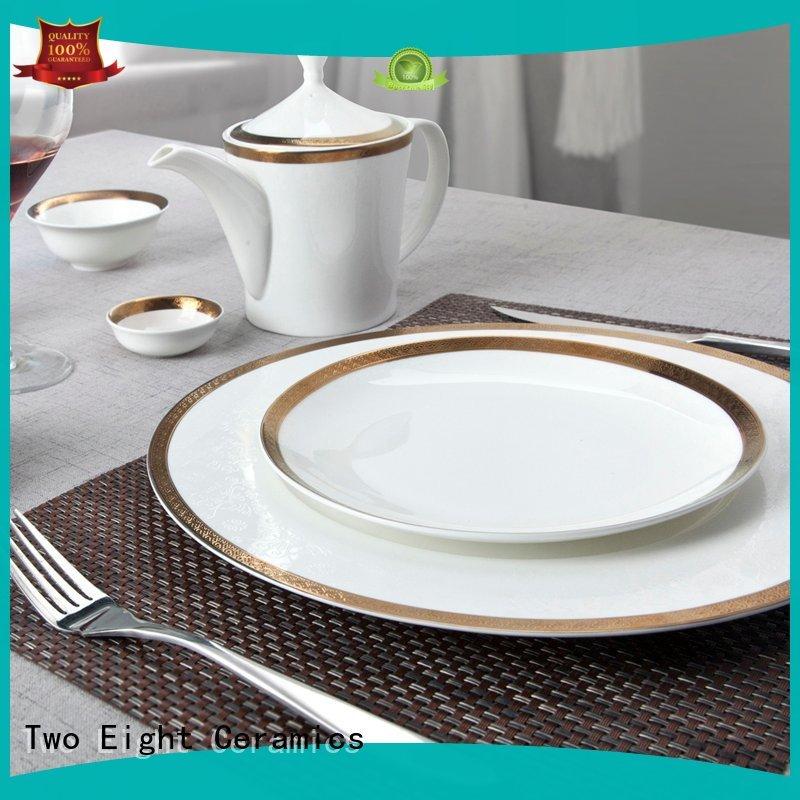 Two Eight royalty finest porcelain dinnerware wholesale for restaurant