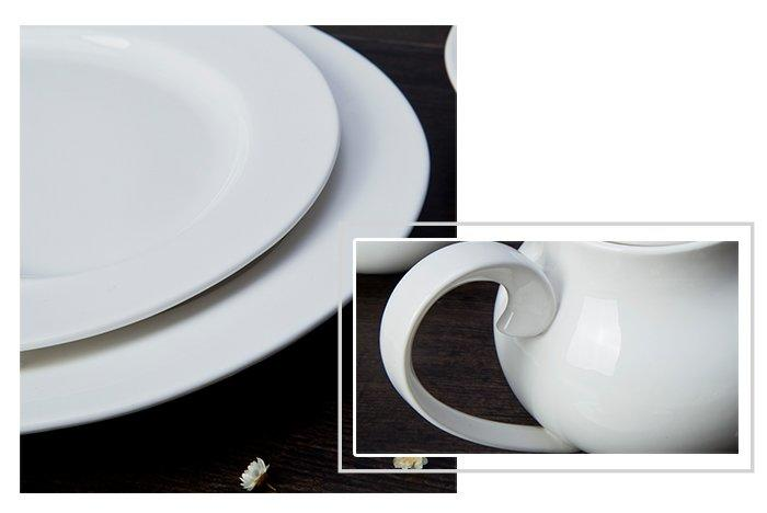 Two Eight round white dinner sets customized for kitchen-1