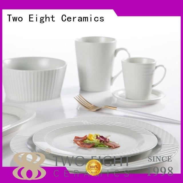 Two Eight colorful french porcelain dinnerware sets directly sale for hotel