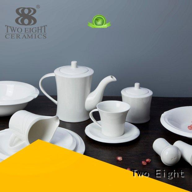 white porcelain tableware square smoothly white dinner sets Two Eight Warranty