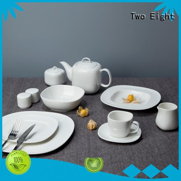 modern white porcelain plates from China for home