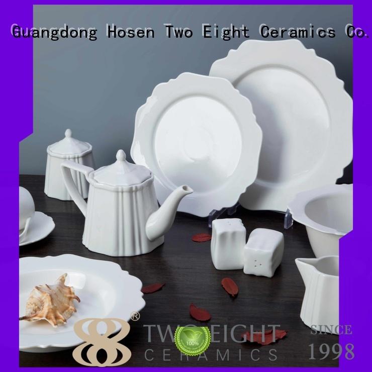 Two Eight Vietnamese cheap porcelain dinner plates series for hotel