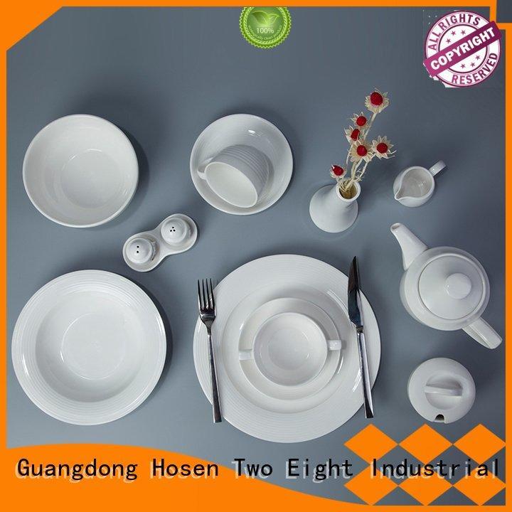 home porcelain Two Eight Brand white porcelain tableware