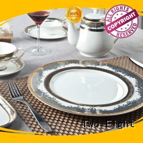 Quality fine white porcelain dinnerware Two Eight Brand royal fine china tea sets