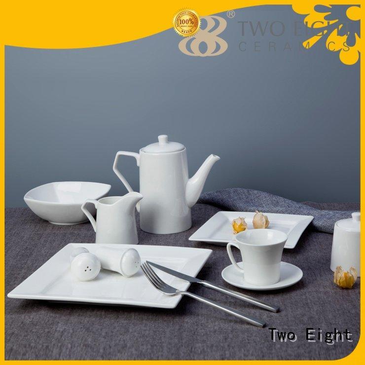 hotel rim meng white porcelain tableware Two Eight