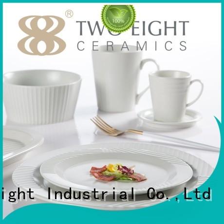 Hot series 16 piece porcelain dinner set irregular Two Eight Brand