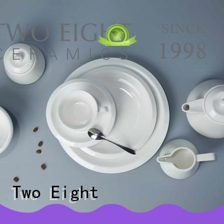 German style white porcelain square dinner set manufacturer for restaurant Two Eight