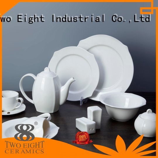 smooth fashion Two Eight white dinner sets