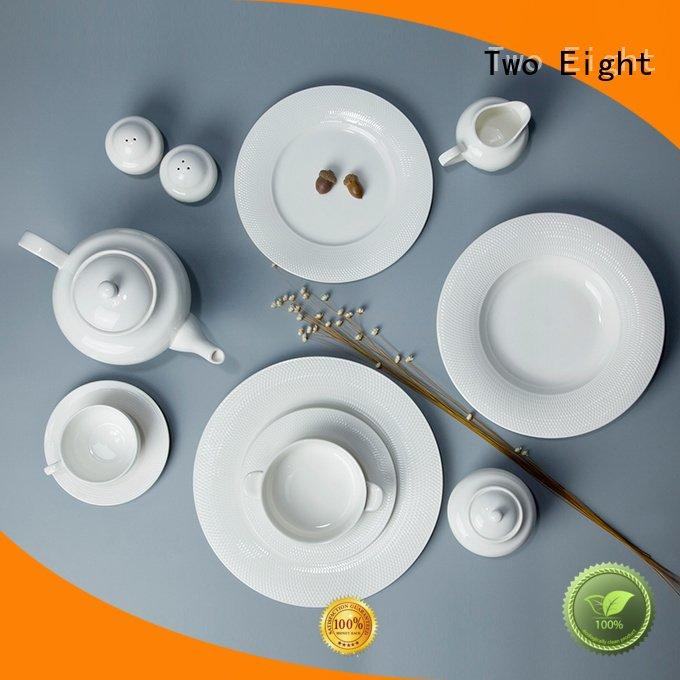white porcelain tableware surface white dinner sets Two Eight Brand