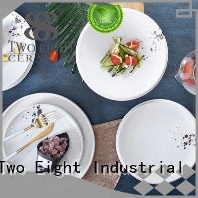 Two Eight Brand casual guagn 16 piece porcelain dinner set contemporary green