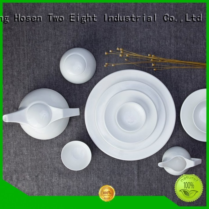 meng color royal white porcelain tableware Two Eight Brand