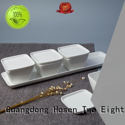 Wholesale fang embossed bone china Two Eight Brand