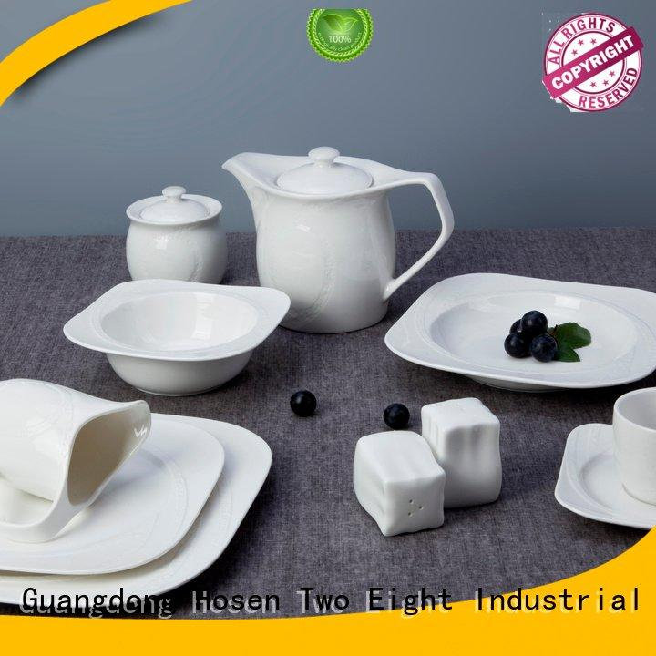Two Eight white porcelain tableware bing bistro open royal