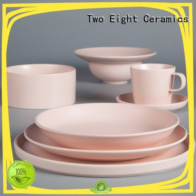 Two Eight smooth grey porcelain dinnerware German style for hotel