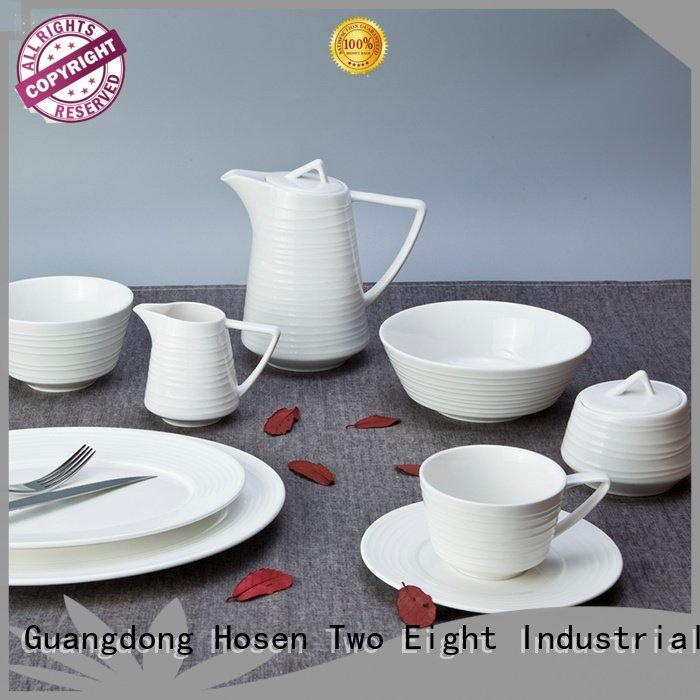 Two Eight white porcelain tableware restaurant plate color