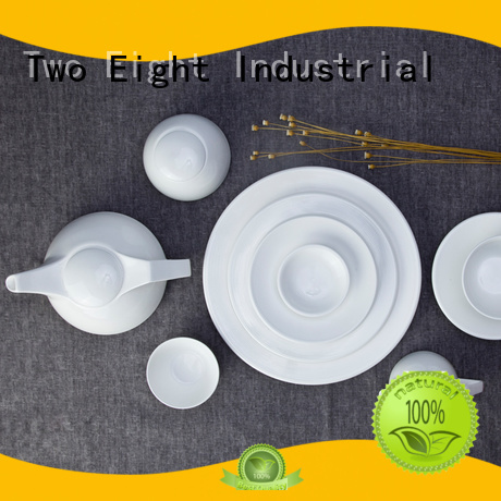 Two Eight Brand open fang white dinner sets manufacture