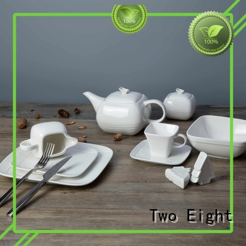 white porcelain tableware fang porcelain two eight ceramics Two Eight Brand