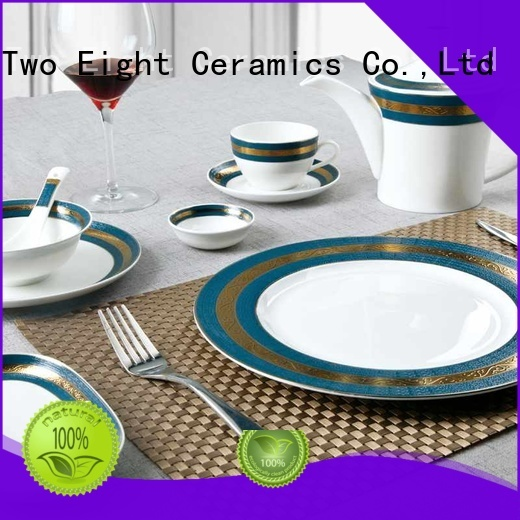 Two Eight restaurant crockery manufacturers for teahouse