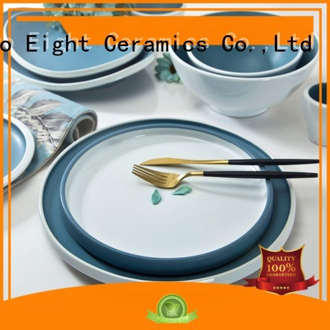 Two Eight navy restaurant dinner plates manufacturer for bistro