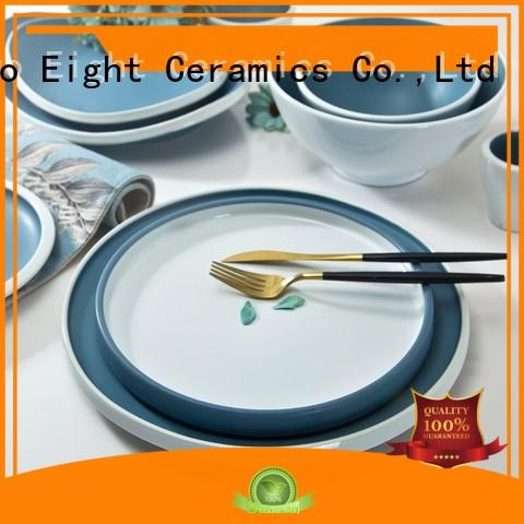 Two Eight navy restaurant dinner plates manufacturer for bistro