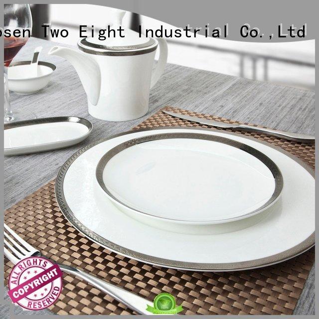 fine white porcelain dinnerware gold fine china tea sets golden Two Eight
