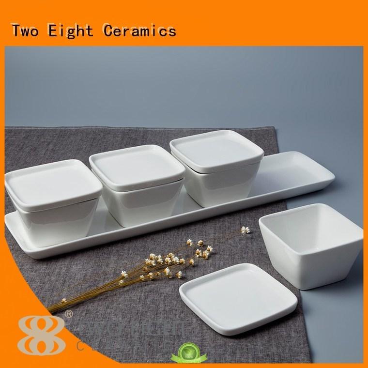 chinese porcelain irregular nai bone china Two Eight