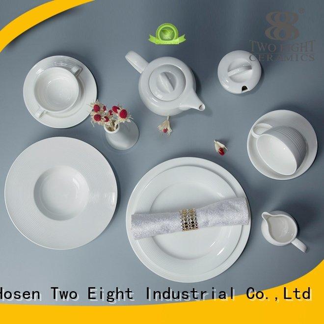 Two Eight surface elegant white porcelain tableware