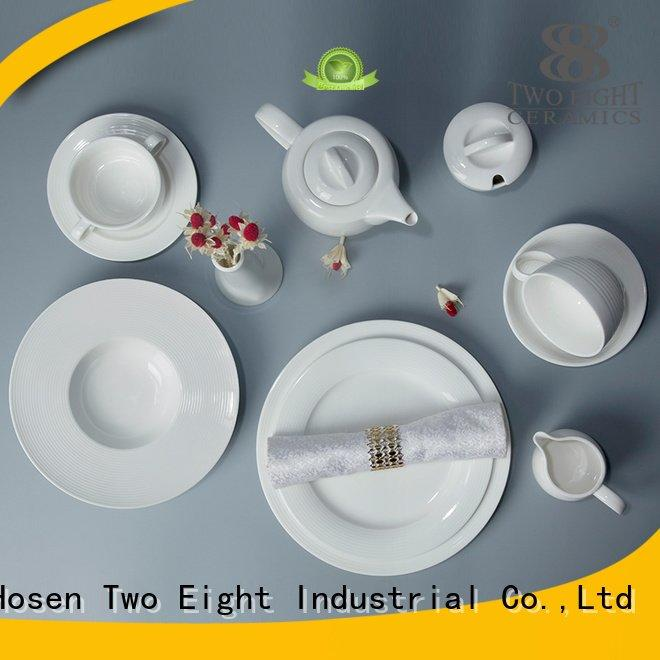 Two Eight surface elegant white porcelain tableware