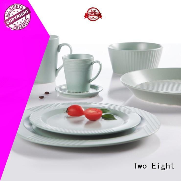 Two Eight elegant 16 piece porcelain dinnerware set series for bistro