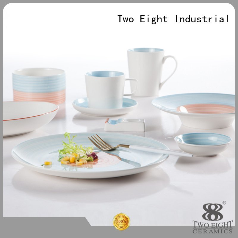 16 piece porcelain dinner set golden blue and white porcelain style Two Eight