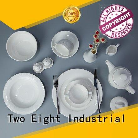 Two Eight Brand royalty white porcelain tableware dinnerware italian