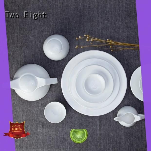 rim cheap white dinnerware Italian style for bistro Two Eight