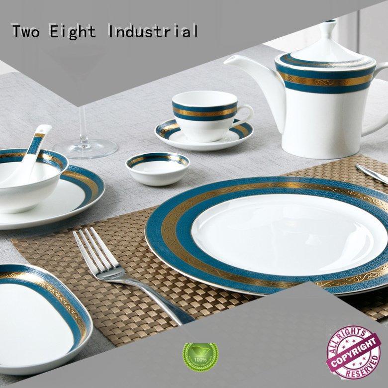 fine white porcelain dinnerware teahouse Two Eight Brand fine china tea sets
