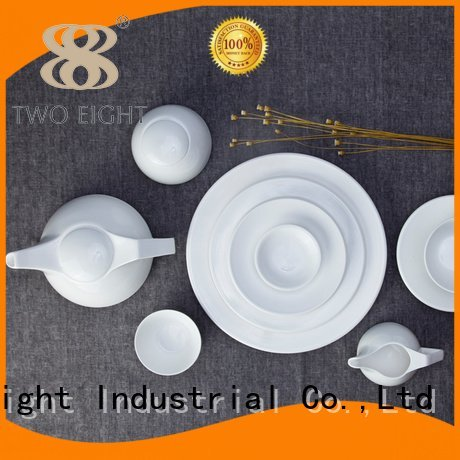 white porcelain tableware fashion restaurant Two Eight Brand