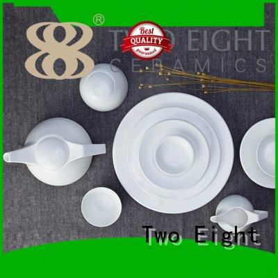 Two Eight square porcelain white porcelain tableware