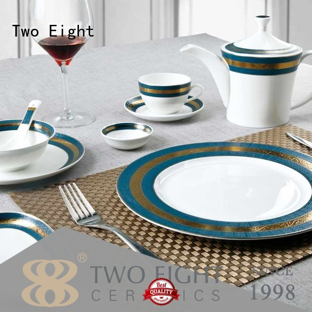 contemporary best white porcelain plates customized for teahouse Two Eight