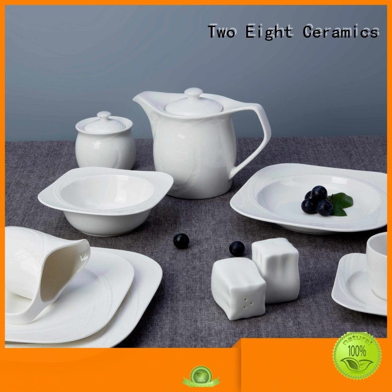 Two Eight Brand italian french white porcelain tableware meng supplier